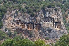 Kaunian rock tombs from Dalyan Stock Images