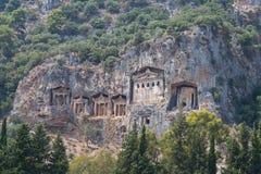 Kaunian rock tombs Royalty Free Stock Photography
