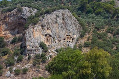 Kaunian rock tombs Stock Photos