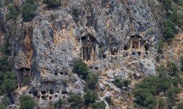 Kaunian rock tombs Royalty Free Stock Photos