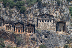 Kaunian rock tombs Royalty Free Stock Images
