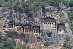Kaunian rock tombs Stock Photos