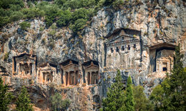 Kaunian rock tombs from Dalyan, Ortaca, Turkey Stock Photography