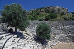 Kaunos-Amphitheatre stockfotos