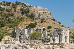Kaunos ancient city from Dalyan Stock Image