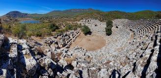 Kaunos fördärvar, nära Marmaris, Turkiet Royaltyfri Bild