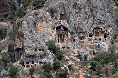 Kaunos Lycian Rock Tombs, Dalyan, Turkey Royalty Free Stock Photo