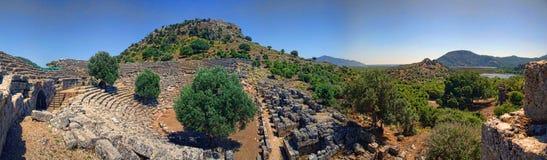 Kaunos wygłupy miasto, Dalyan, Turcja fotografia stock