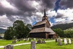 Kaupanger ударяет церковь, Норвегию стоковое фото