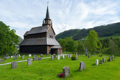 Kaupanger Stave church Stock Photo