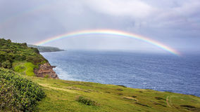 Kaupo Maui tęcza Obraz Royalty Free