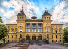 Kaupungintalo van Hall Oulun van de Oulustad Oulu, Finland Stock Afbeeldingen