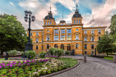 Kaupungintalo van Hall Oulun van de Oulustad Oulu, Finland Royalty-vrije Stock Afbeeldingen