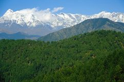 Kausani scenic landscape Royalty Free Stock Photography