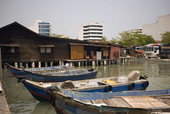 Kauw Pier, Georgetown, Penang, Maleisië royalty-vrije stock afbeelding