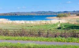 Kauw Valleimeer en reservoir Somerset England het UK stock foto's