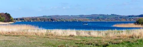 Kauw van het Valleimeer en reservoir het panorama van Somerset England stock foto's