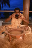 Kava drinking Stock Photo
