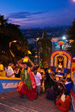 Kavadi bearer in dawn hour Stock Photo