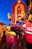 Kavadi bearer in need of help Royalty Free Stock Photos