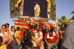 Kavadi bearer on Thaipusam festival Royalty Free Stock Photos