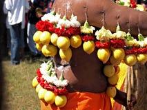 Kavady节日的一个献身者 免版税库存图片