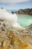 Kavah Ijen volcano. Kavah Ijen - turquoise colored acid crater lake Stock Photos