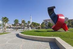 KAVAJE,阿尔巴尼亚- 2016年10月:一个最近建立的城市在阿尔巴尼亚 免版税库存图片