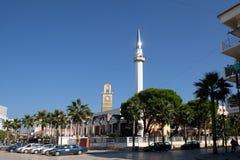 Kavaje stary miasto i zarząd miasta w Tirana okręgu administracyjnym, Albania Obrazy Royalty Free
