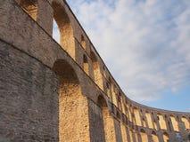 Kavala akvedukt Arkivfoton