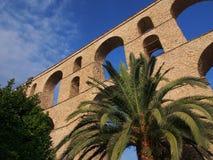 Kavala akvedukt Arkivfoto