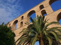 Kavala Aqueduct Stock Photo