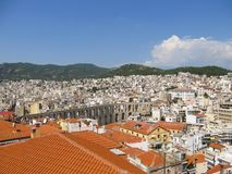 Kavala, as seen from the castle of Kavala stock photography