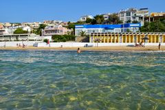 Kavala beach, Greece. Royalty Free Stock Images
