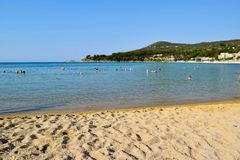 Kavala beach, Greece. Royalty Free Stock Photo