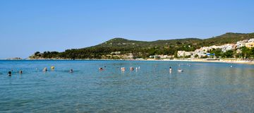 Kavala beach, Greece. Stock Images