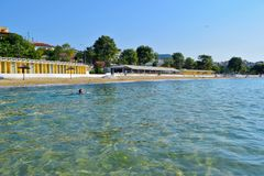 Kavala beach, Greece. royalty free stock image