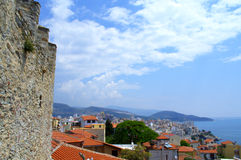 Kavala castle view,Greece Royalty Free Stock Images