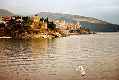 Kavala, Greece. View from the ship. Kavala port Stock Image
