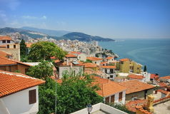 Port city Kavala, landmark attraction in Greece Royalty Free Stock Photos