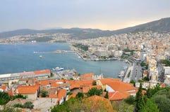 Kavala hamn, Grekland Royaltyfria Bilder
