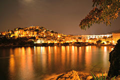 Kavala at night. In Greece royalty free stock photo