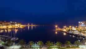 Kavala by night, Greece Royalty Free Stock Photography