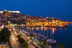 Kavala by night, Greece Royalty Free Stock Image