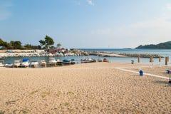 Kavala Sandy Beach royalty free stock photography