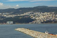 Kavala - view from the fortress, Greece. royalty free stock image