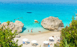 Kavalikefta-Strand, Lefkas-Insel, Griechenland Stockfotografie
