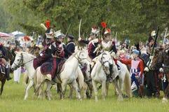 kavalleri för atackstridborodino Arkivfoto