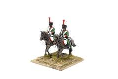 Kavalleri Toy Soldiers för två ryss Arkivbild