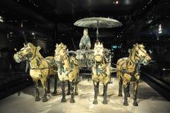 Kavallerie der Terrakottaarmee Terrakotta-Armee Lehmsoldaten des chinesischen Kaisers Die Kavallerie der Terrakottaarmee stockfotografie